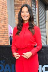 Olivia Munn At The Daily Show with Trevor Noah in New York City