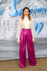 Freya Mavor At Serpentine Gallery Summer Party 2019 at Kensington Gardens in London, England