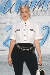 Anne-Marie At Serpentine Gallery Summer Party 2019 at Kensington Gardens in London, England