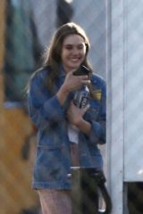 Elizabeth Olsen On the set of 'Sorry For Your Loss' TV Series in Los Angeles