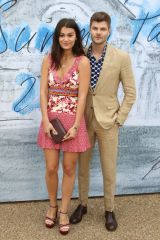 Sarah Tarleton and Jim Chapman attend the Serpentine Gallery Summer Party at Hyde Park in London