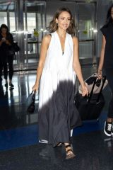 Jessica Alba At JFK