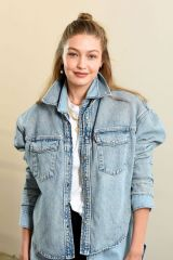Gigi Hadid At WARDROBE.NYC launch of Release 04 DENIM & Levi's® Collaboration in NYC