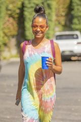 Christina Milian Shopping at the Farmers Market in LA