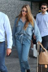 Gigi Hadid Arriving in Milan