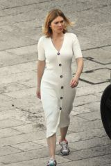 Lea Seydoux Pictured on the set of the new James Bond 007 film 'No Time To Die' in Italy