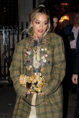 Rita Ora Leaving the Chiltern Firehouse with a female companion at 4am in London