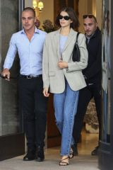 Kaia Gerber Leaving her hotel in Milan