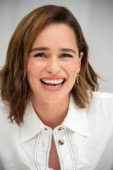 Emilia Clarke At 'Last Christmas' Press Conference in Beverly Hills
