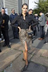 Iris Mittenaere Arrives to Tod's fashion show during Milan Fashion Week