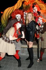 Peyton List At Knott's Scary Farm in Buena Park