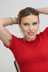"Scarlett Johansson At ""Jojo Rabbit"" Press Conference in Beverly Hills"