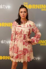Bel Powley At Apple's press day for 'The Morning Show', Los Angeles