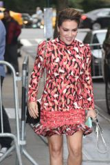 Alyssa Milano Seen at 'The View' in New York