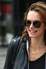 Kara Tointon Exits Sunday Brunch TV show in White City in London