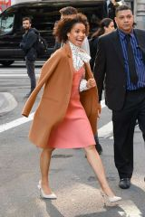 Gugu Mbatha-Raw Is seen outside the 'Build' building