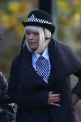 Rita Ora Seen here on the fil set of Oliver Remake in London