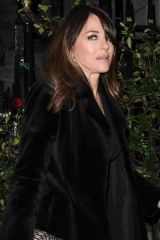 Liz Hurley Enjoying a evening out at Annabel's in Mayfair, London