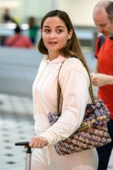 Jacqueline Jossa Makeup free arriving at Brisbane Airport in Australia