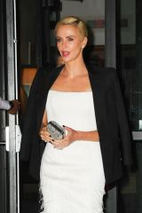 Charlize Theron Leaves the Crosby hotel in New York