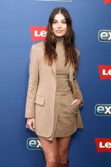 Camila Morrone Visits 'Extra' at The Levi's Store Times Square in New York City