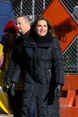 Mariska Hargitay On The Set Of 'Law and Order: Special Victims Unit' in Chelsea