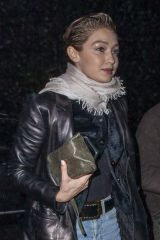 Gigi Hadid Seen leaving La Coupole Nightclub in Paris, France