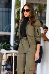 Olivia Culpo Leaves her hotel in Miami Beach