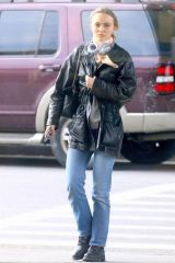 Lily-Rose Depp Outside of JFK airport in New York