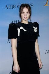 Felicity Jones At Premiere of 'The Aeronauts' at SVA Theater in New York City