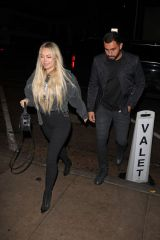 Corinne Olympios Going to Craig's restaurant with a mystery man in West Hollywood