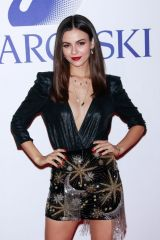 Victoria Justice At Swarovski's Nice or Naughty Holiday Celebration in NYC
