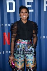 Tamron Hall At '6 Underground' film premiere, Arrivals, New York
