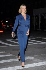 Karlie Kloss Looking Chic in Navy Blue Jumpsuit