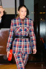 Gigi Hadid Steps out in a stylish plaid outfit for Z100's Jingle Ball in New York