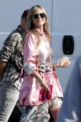 Heidi Klum As she films 'Germany's Next Top Model' in Los Angeles