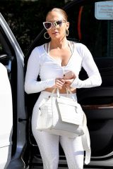 Jennifer Lopez Seen leaving the gym in Miami