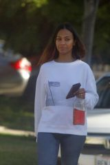 Zoe Saldana Doing some errands in Beverly Hills