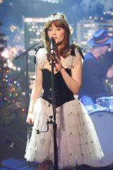 Zooey Deschanel At Jimmy Kimmel Live! in Los Angeles