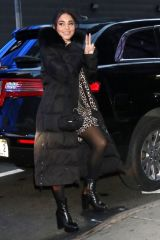 Vanessa Hudgens Arrives at Good Morning America in New York