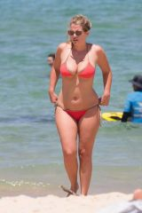 Lady Kitty Spencer In Red Bikini On Bondi Beach
