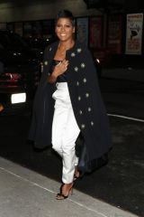 Tamron Hall Seen at 'The Late Night Show with Stephen Colbert' studios in New York City