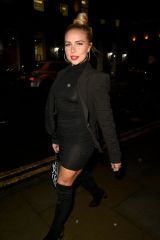 Gabby Allen Seen leaving the Peter Street Kitchen restaurant in Manchester