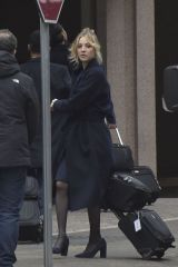 Kaley Cuoco On the set of ''The Flight Attendant'' in Rome