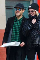 Rami Malek & Lucy Boynton All smiles while out shopping in Manhattan's Soho area