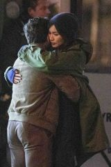 Kit Harington & Gemma Chan Passionately kiss as they shoot scenes for new Marvel movie 'Eternals' in London