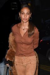 Joan Smalls Is seen arriving at the Royal monceau hotel in Paris for fashion week