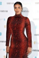 Maya Jama At Vanity Fair EE Rising Star BAFTAs Pre Party in London