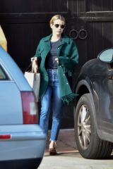 Emma Roberts Seen leaving her boyfriend's house in Los Feliz