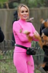 Amanda Holden & Alesha Dixon Spotted filming the upcoming series of BGT at a local park in London